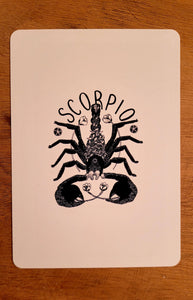 Scorpio Postcard: Zodiac Collection