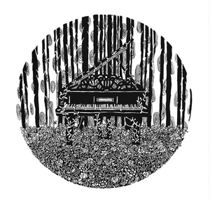 Piano in the Woods (A5 Print)