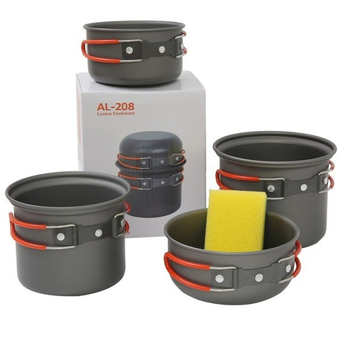 4pcs Camping Pan Set