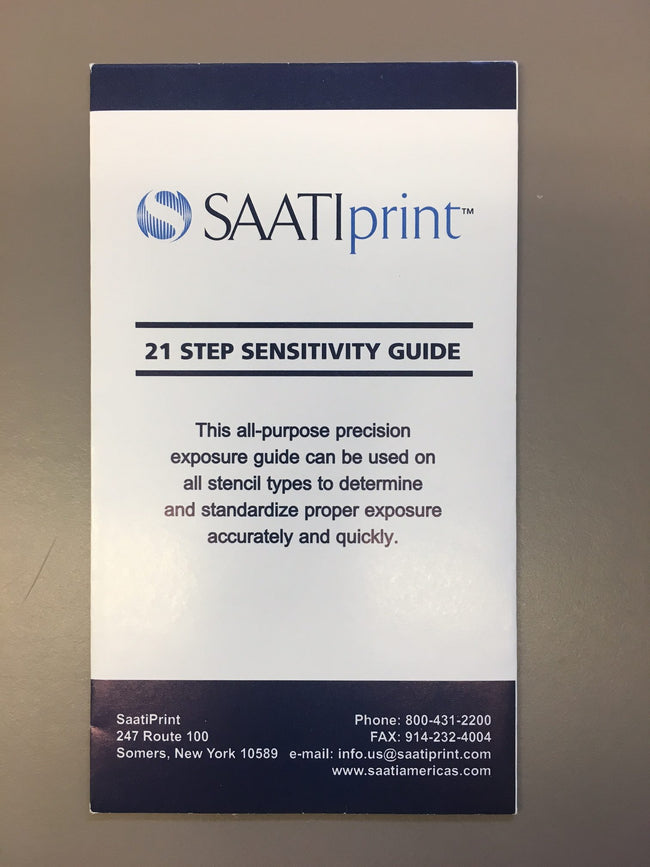 Saati 21 Step Sensitivity Guide(900082)