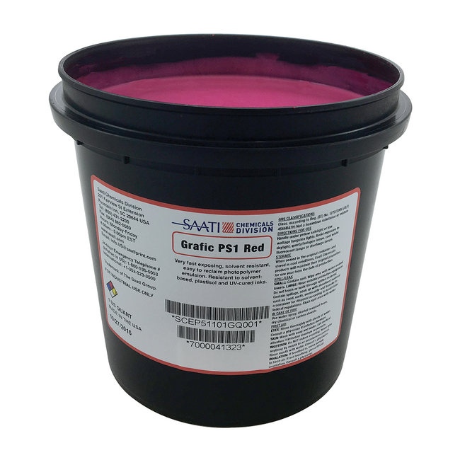 Saati Grafic PS1 Red Emulsion (1 gal)(900140)