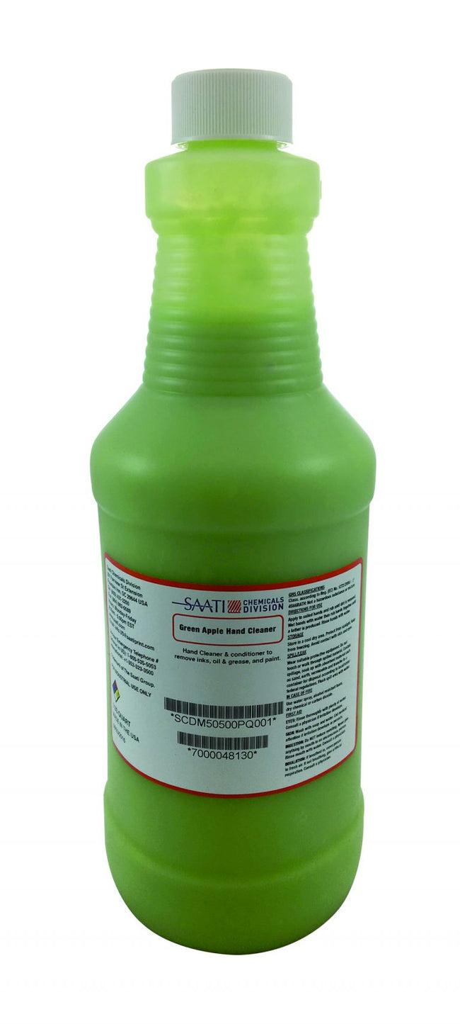 Saati Green Apple Hand Cleaner (1 qt)