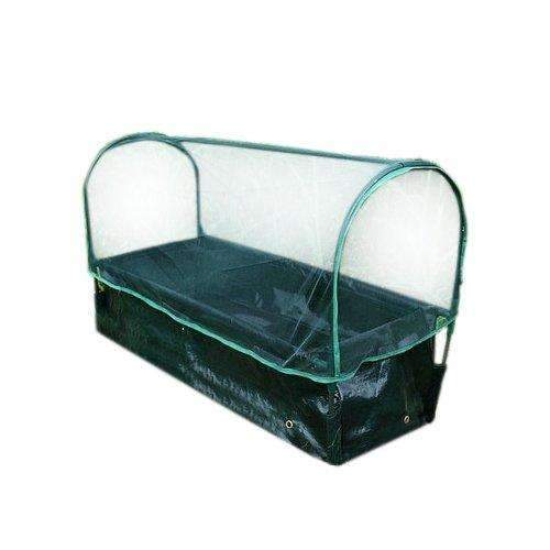 35.43x11.81x9.84 Inches Rectangular Planting Bag with Insect Net, Dark Green