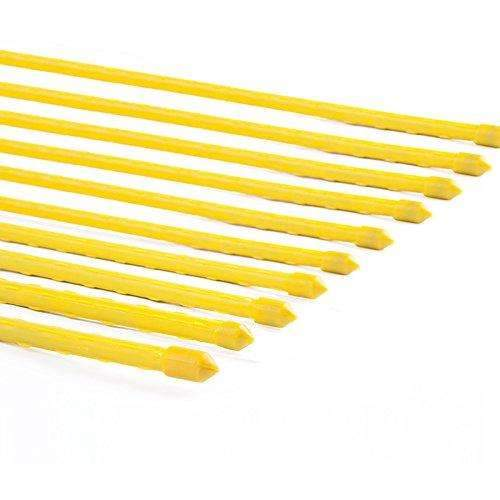 Plastic Coated Steel Tube Stakes, Diameter 8MM x Height 0.9M Yellow