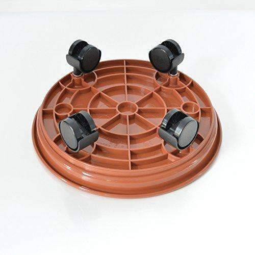 Plant Caddy Round Removable 14''dia with 4pcs Universal Wheel Self Closed, 1 pack