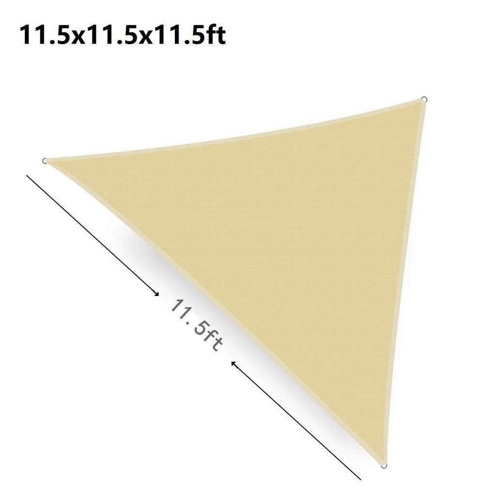 11.5ft Wheat Color Triangle Durable Sun,  UV Block