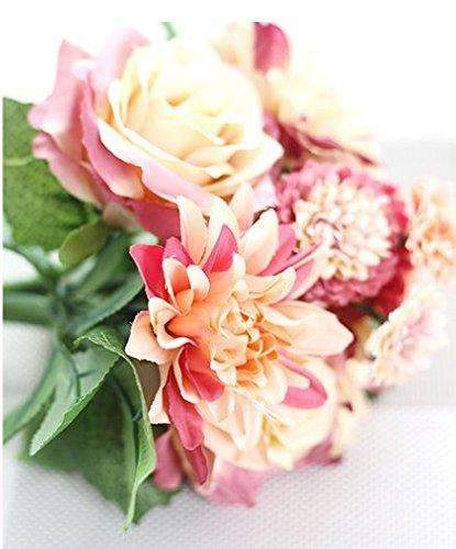 Artificial Flower Bundle, Rose, 11.8'' Length