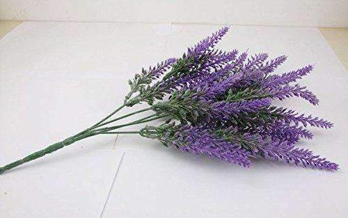 Artificial Flower Purple Lavender, 8 Bundles, 40 stems