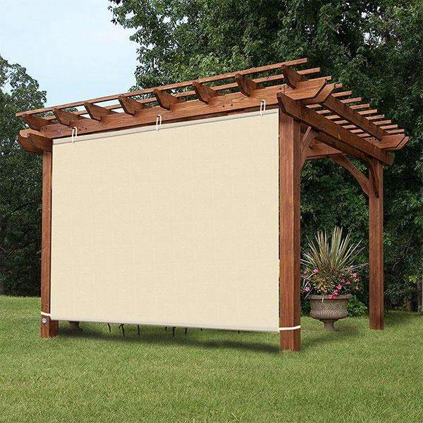 Waterproof Wheat Adjustable Side SunShade Panel Wall