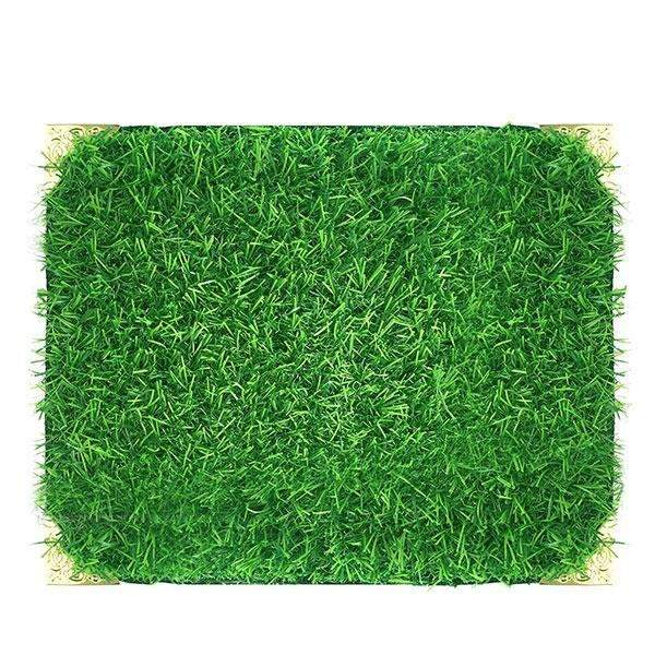 Artificial Grass Turf Ornamental Fake Grass with Metal Angle Decoration, 40''x28''