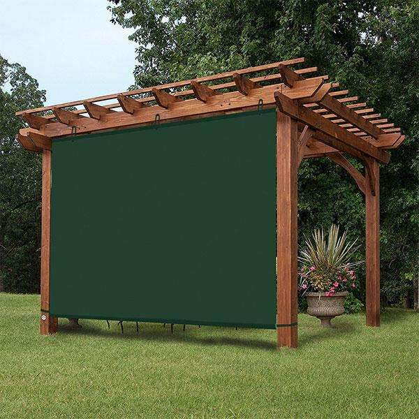 Waterproof Dark Green Adjustable Side SunShade Panel Wall