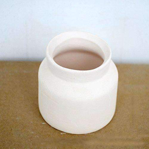 DIY Paint Colors Ceramic White Small Vases, D1.3''xH3.54''xW2.56''