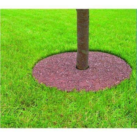 Tree Ring Tree Mulch Protection Weed Mat, 24'' Dia
