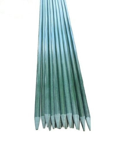 Solid Garden Stakes,5-Ft,5/16-Inch Dia,Dark Green