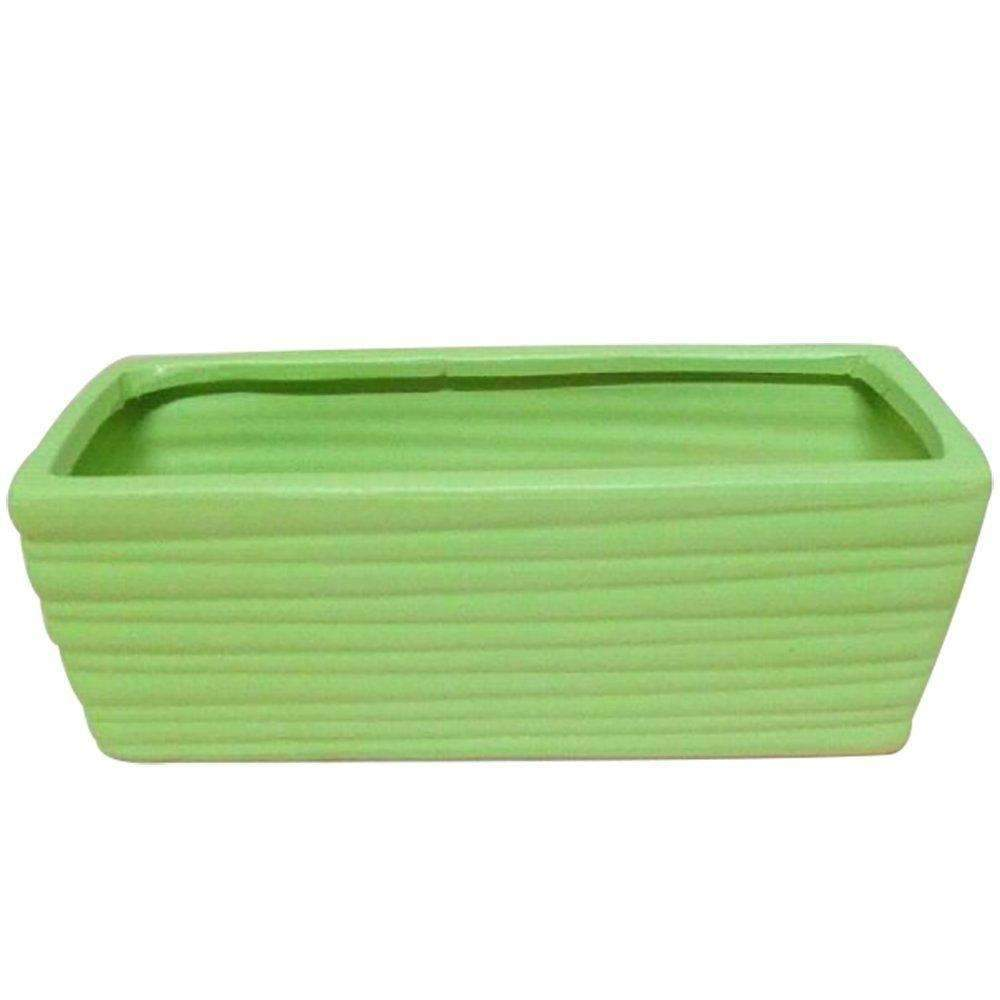 Striped Succulents Potted Ceramic Rectangular Flower Pots L9.8''xW4.9''xH3.9''