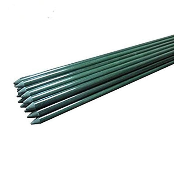 Solid Plant Stakes, 8-Ft, 1/2-Inch Dia, Dark Green
