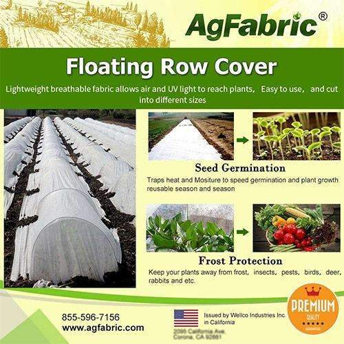 Floating Row Cover and Plant Blanket, 1.5oz, White