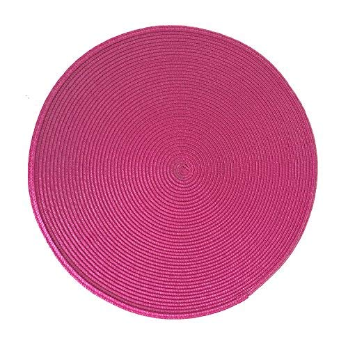 "Home Cal Non-Toxic Placemat and Lint Free Environmental Circular PP Woven Table mats Set of 4(Purple,15.5"")"