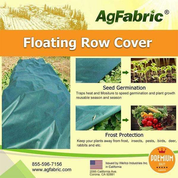 Floating Row Cover and Plant Blanket, 1.5oz, Dark Green