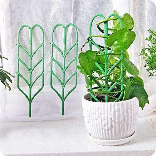 Garden Trellis for Mini Climbing Plant Pot Support, Green