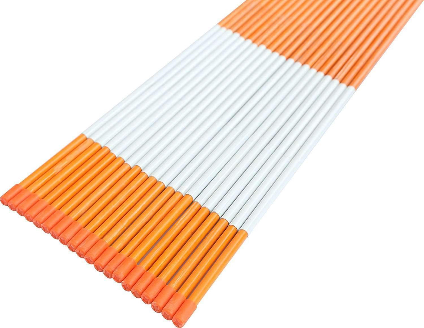 FiberMarker Reflective Driveway Makers 36-Inch Orange 25-Pack Hollow 5//16-Inch Dia Reflective Snow Stakes for Roadway
