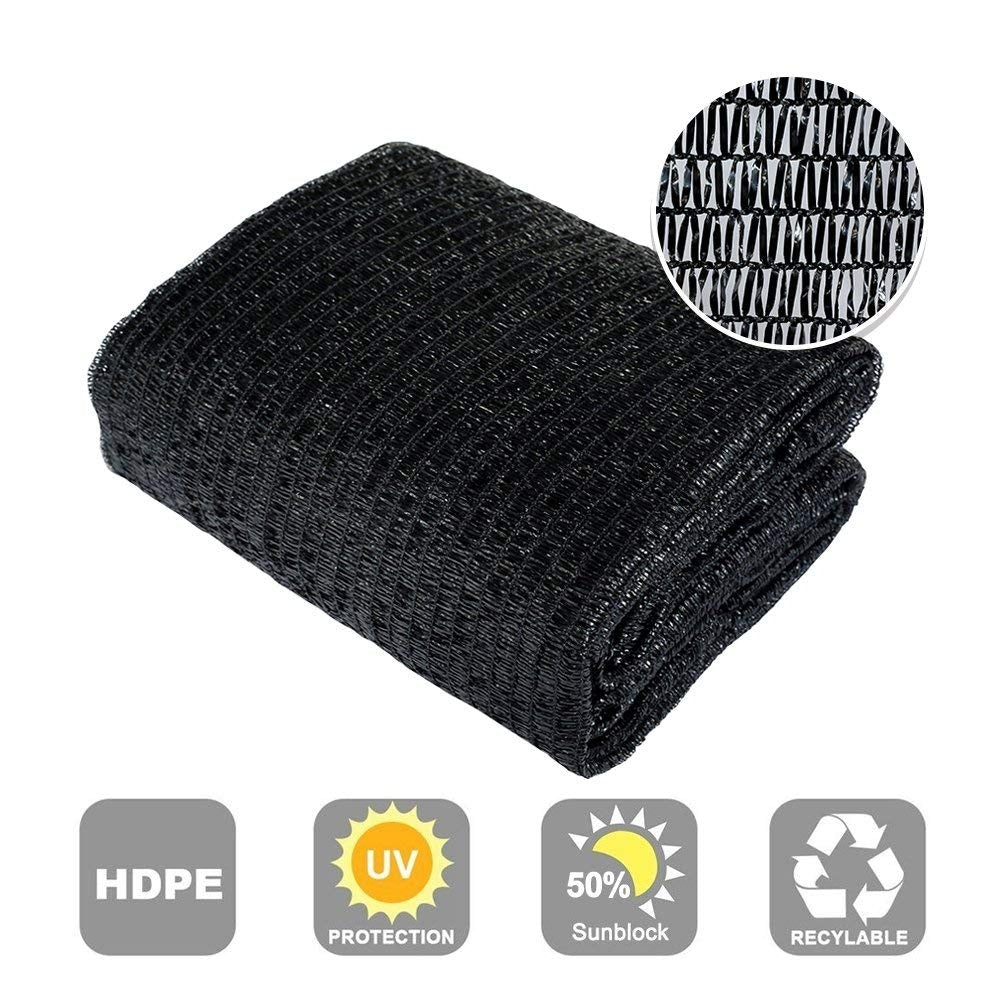 60% Sunblock Shade Cloth, Black