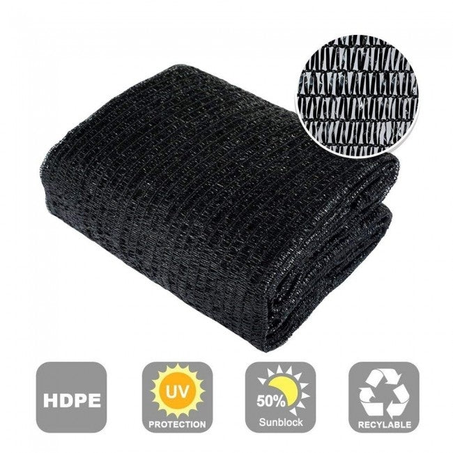 30% Sunblock Shade Cloth, Black
