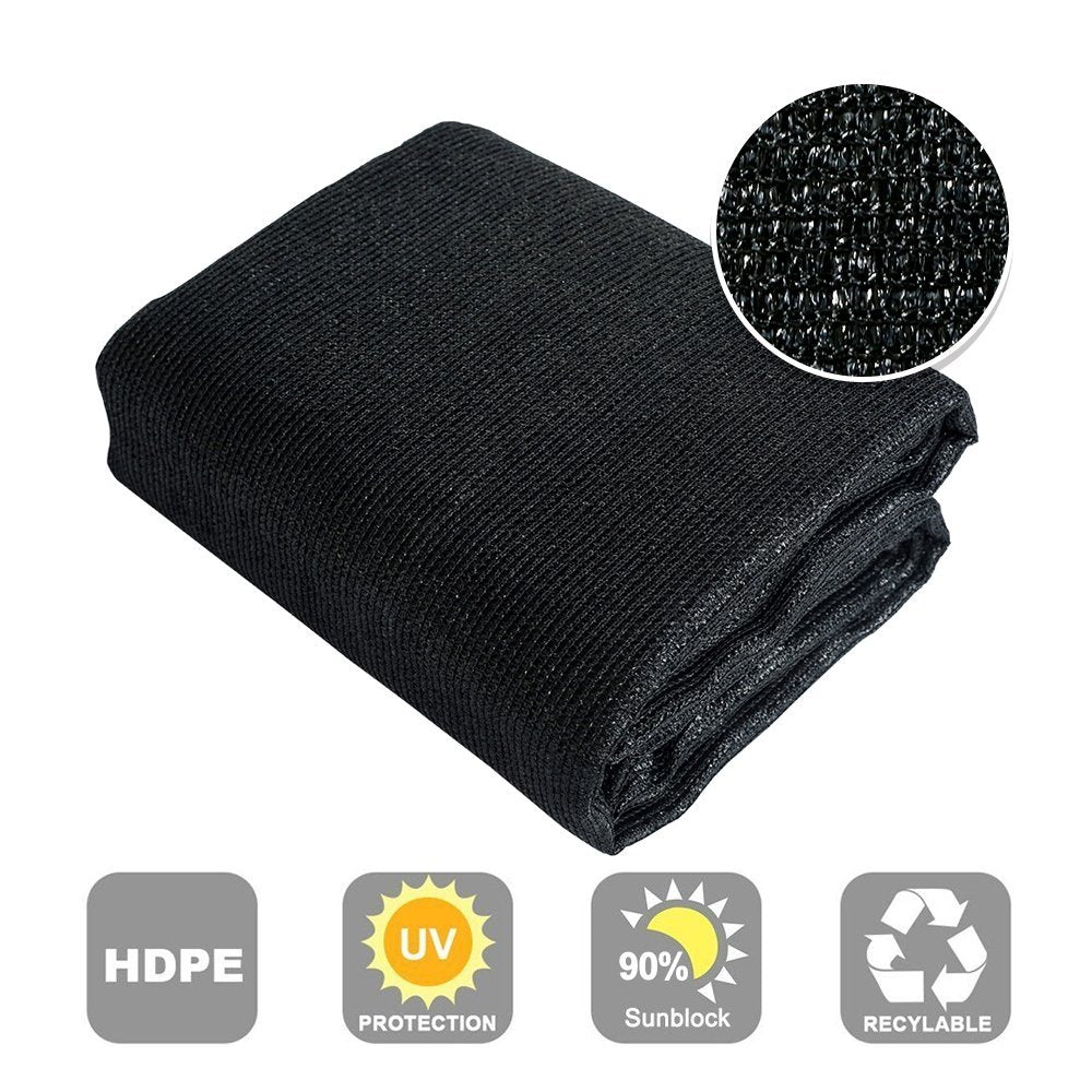 90% Sunblock Shade Cloth, Black