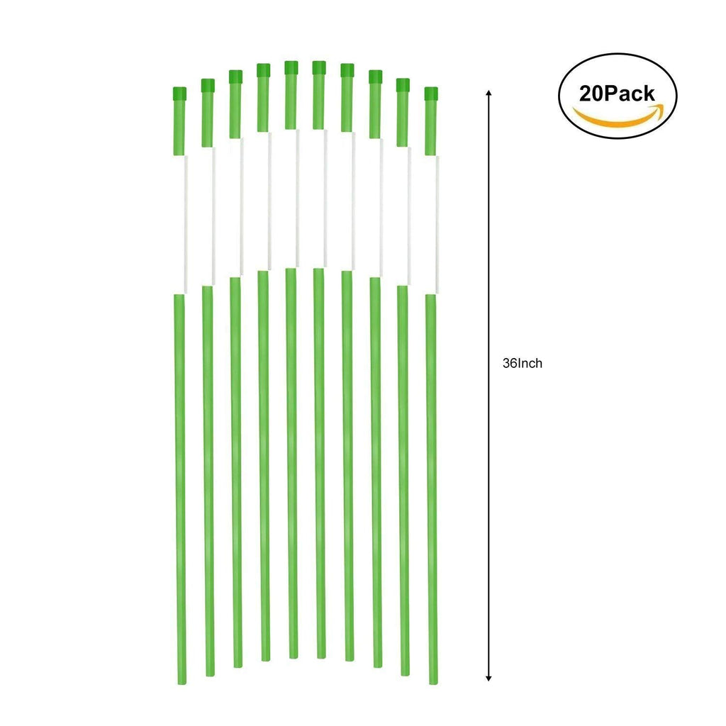 Reflectors Snow Poles 36-Inch Green