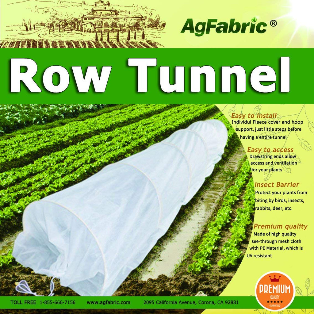 Floating Row Cover with Never Rust Hoops