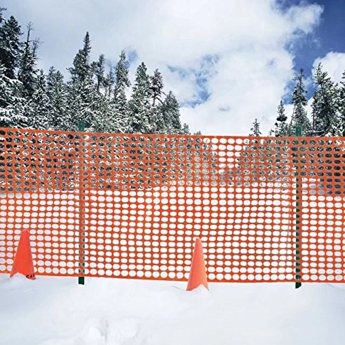 UV Stabilized Plastic Safety Fence, Orange