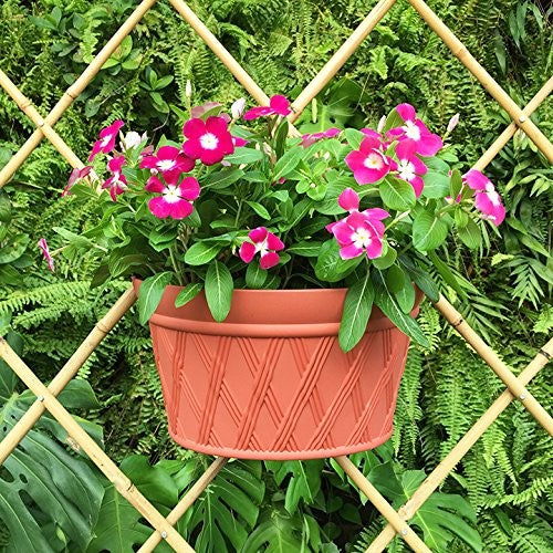 12-Inch Half Round Planter,Brick Red