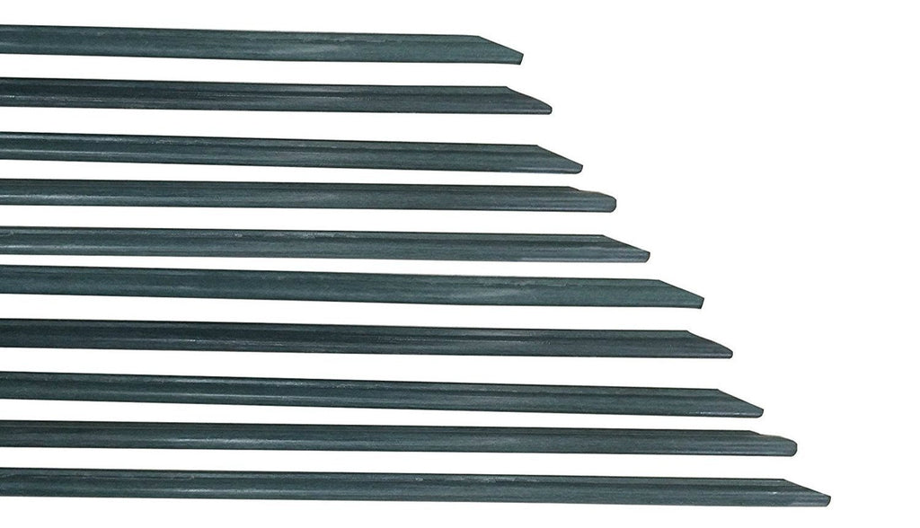 Plant Stakes with 2 Grooved Ribs, 3-Feet, 5/16-Inch Dia