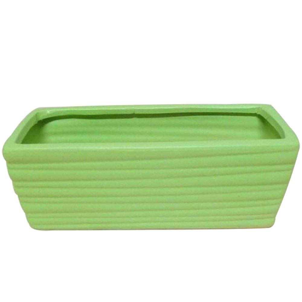 Ceramic Rectangular Flower Pots L9.8''xW4.9''xH3.9''