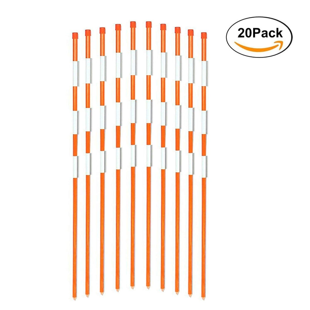 Reflective Driveway Markers 5/16 Inch Diameter Orange