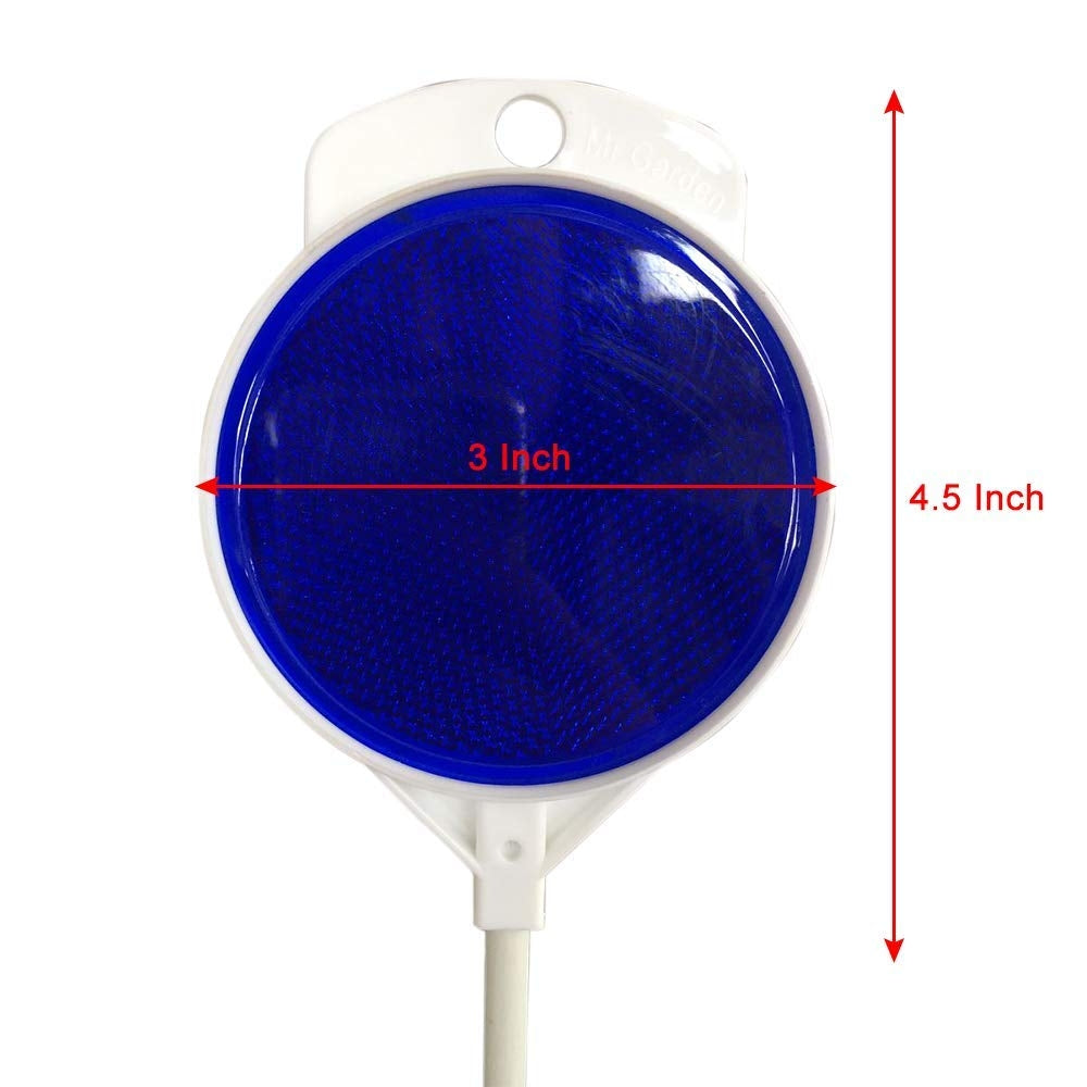 White Snow Marker with Red/Blue Reflector, 24Pack