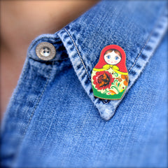TP7040  Red Matroyshka Tiny Pin