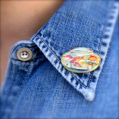 TP7037  Goldfish Bowl Tiny Pin