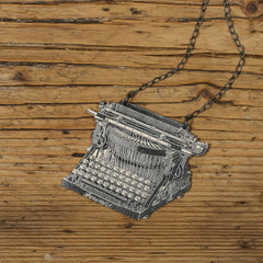 NK1033 Typewriter Necklace