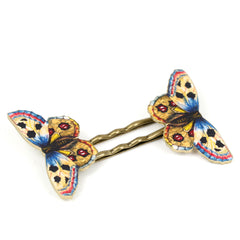 BP5039  Yellow Butterfly Bobby Pins
