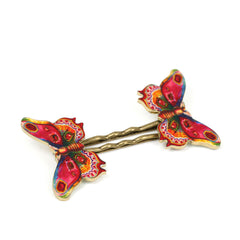 BP5038  Pink Butterfly Bobby Pins