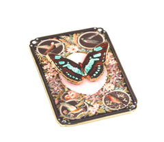 BR2124  Butterfly Playing Card Brooch
