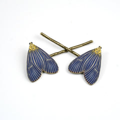 BP5047  Blue Wing Bobby Pins