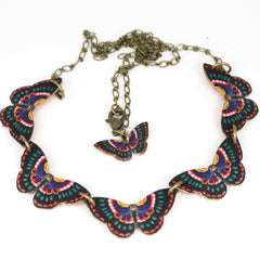 NK1420 Romanian Butterfly Necklace