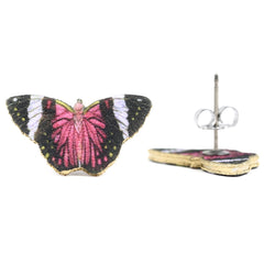 ER3260 Fuchsia Butterfly Earrings