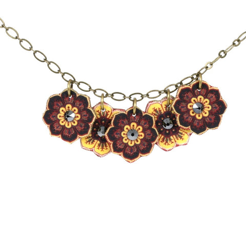 NK1425 Russian Flower Charm Necklace