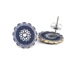 ER3262 China Plate Post Earrings