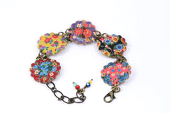BC4254 MEXICAN OILCLOTH BRACELET