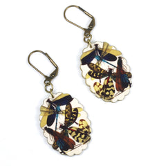 ER3240 Navy Dragonfly Earrings