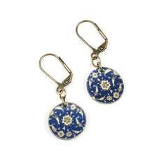 ER3236 Blue Ancient Pattern Earrings